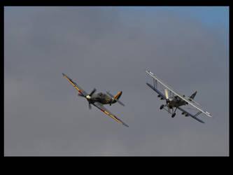 Hawker Sea Hurricane and Hawker Hind by Bogbrush