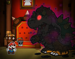 Paper Mario Color Splash - Vs. Bowser by Rotommowtom