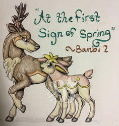 At the First Sign of Spring by Bamsdrawz