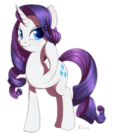 Raffle prize : long hair Rarity by DivLight