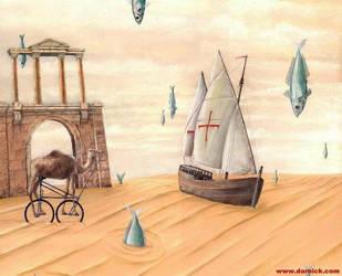 Walking In The Fish Rain by darastean