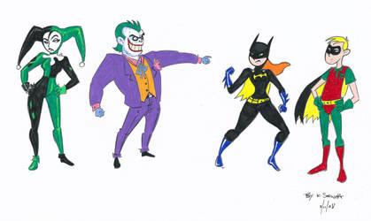 The KP cast as Batman by sapphicspencil