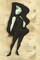 Shego's New Suit by sapphicspencil