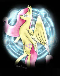 I just wanted to do a lil drawing of Fluttershy!  by Maria-chan21