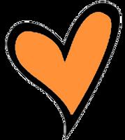 Corazon naranja by dannaeditions789