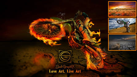 Desert Motorbike Art Shift GraphiX by ShiftgraphiX