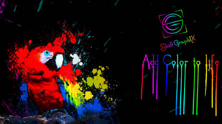 Parrot Color paint Splash by ShiftgraphiX