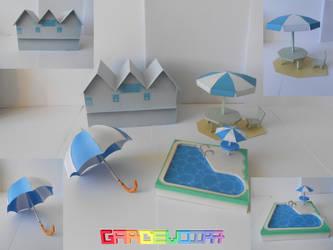 Release : Beach Pack Papercraft by gardevoir7