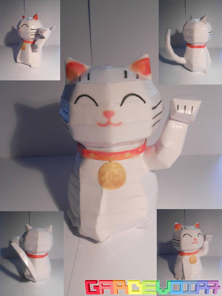 Release : Maneki Neko Papercraft by gardevoir7