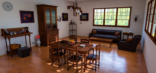 Living Room by AH-Kai