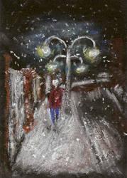 Walking in Snow by sophelia