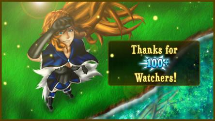 100+ Watchers! Thank you everyone! by RadianceStudio