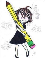 pencil by KYOSkitty-grl