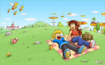 World 4-3 picnic day by TheBourgyman