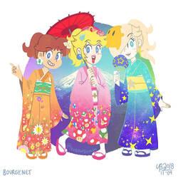 Kimono Princesses by TheBourgyman