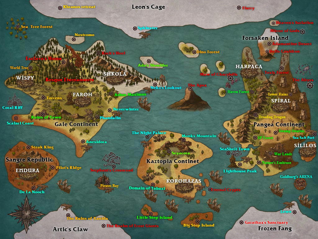 Phandalin World Map