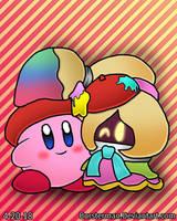 Kirby and Vividria by bursterman