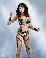 Wonder Woman Electrical Tape Outfit by ArtFrak