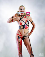Harley Quinn Electrical Tape Outfit by ArtFrak