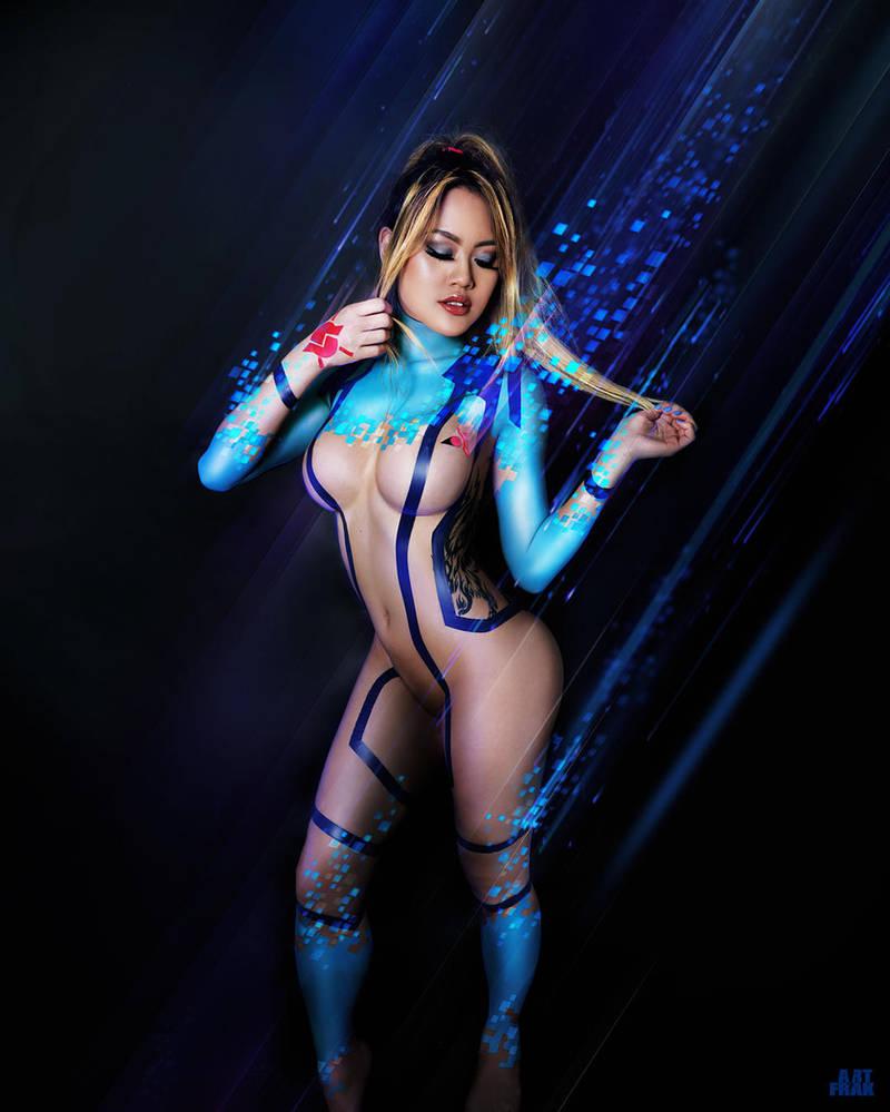 Sumas Zero Suit 3 - Electrical tape outfit design by ArtFrak