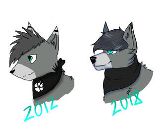 6 year progress by p1nkertoon