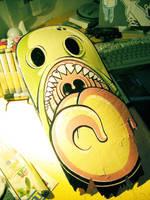 Skateboard Monster by Pallala