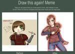 Draw This Again Meme : Ellie by MoonGirlEvil