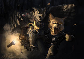 Owl Attack by Yacrical