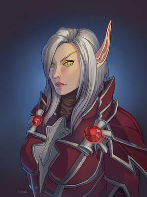 Commission- Blood Elf Warlock by nozomi-M