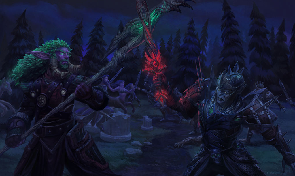 Commission- The Battle of the Green Trident by nozomi-M