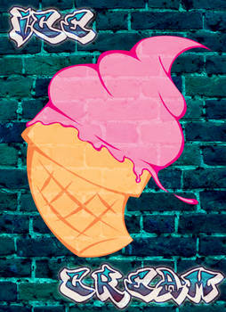 Ice Cream Graffiti by Saint-Romain