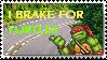 I Brake For Turtles Stamp by Khymera