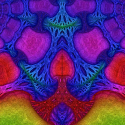 Bare Fractal coloration for Black Light by Spangler-Imagery