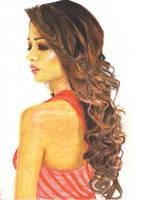 Brown Curls by Bansini