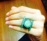 Green Lantern Ring - Polymer Clay by Bansini