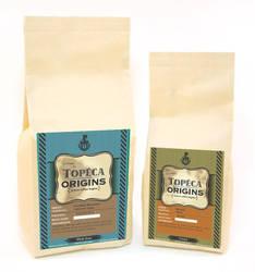 Label design for Topeca Origin by negro81