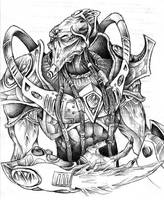 Protoss Zealot Sketch by JeffyP