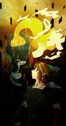 LoZ: TP Link and Midna by yashigirl09