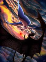 Angel and Demon by GoldenTigerDragon