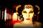 Goddess of the red temple by FabienBertham