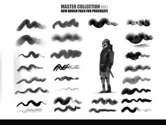 42 Brush Pack for Ipad Procreate Master collection by RaZuMinc