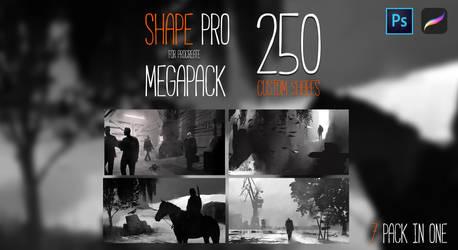 SHAPE PRO MEGAPACK FOR PROCREATE AND PHOTOSHOP by RaZuMinc