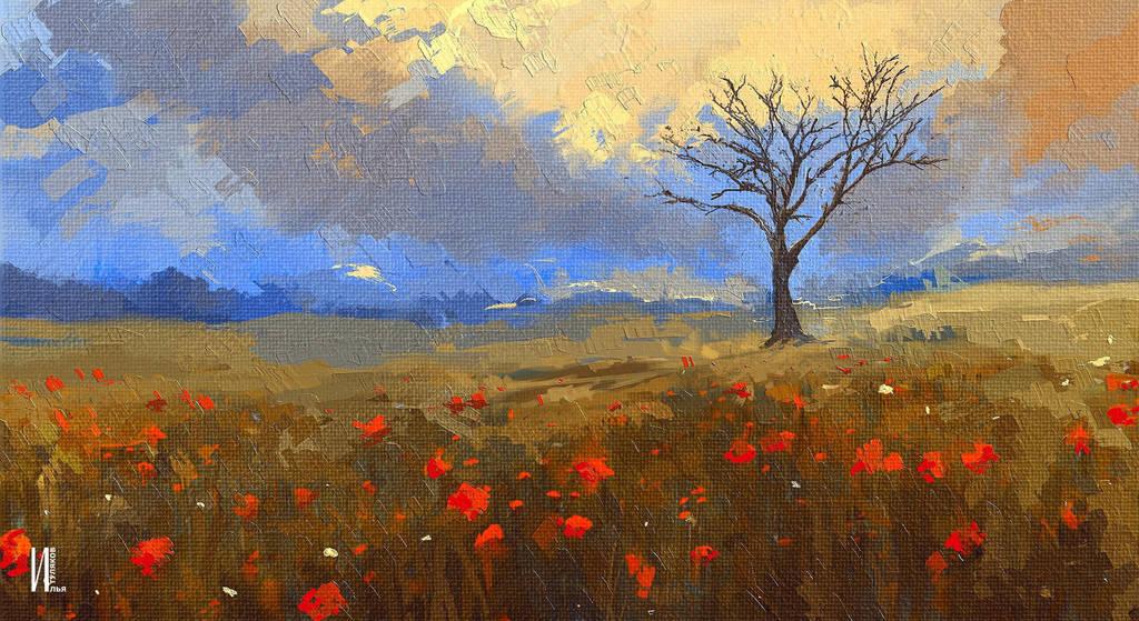 Landscape painting on IPAD by RaZuMinc