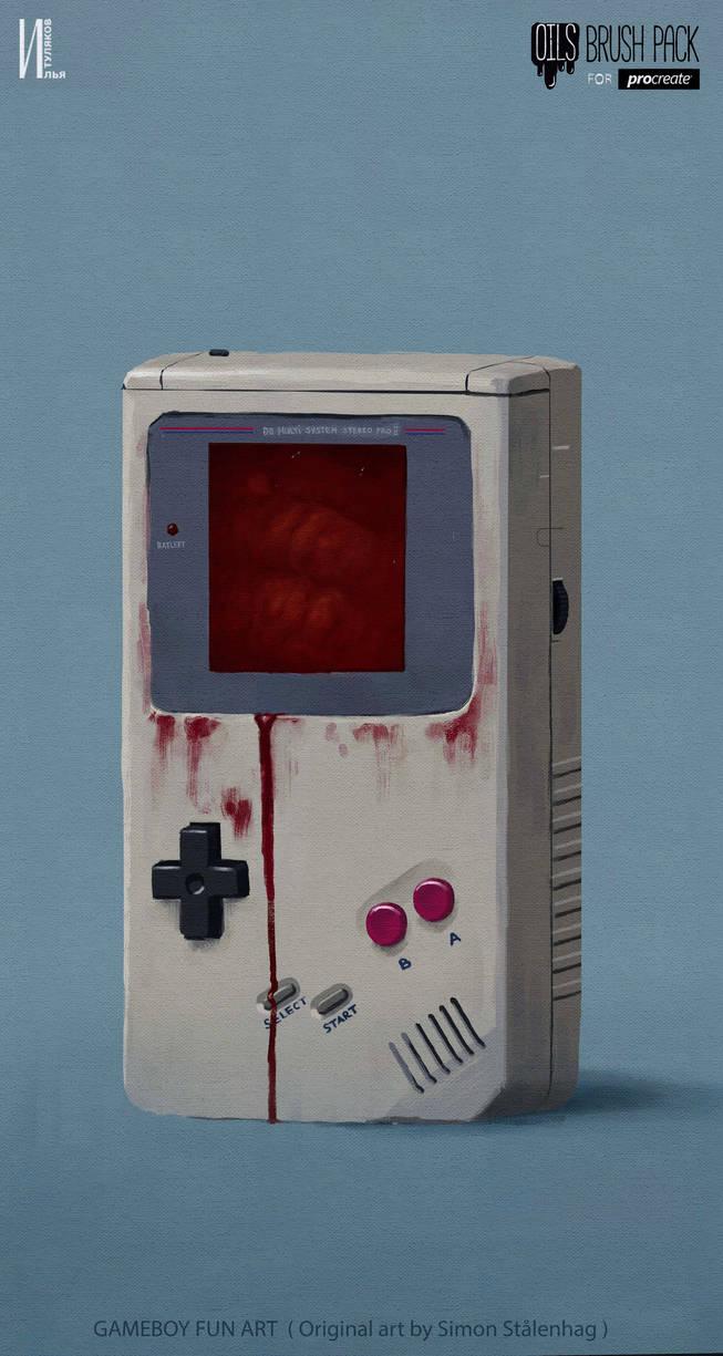 Gameboy fan art Procreate Ipad by RaZuMinc