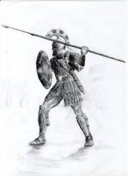 Greek Warrior by Patroclos