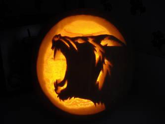Werewolf Pumpkin by KindredWoD