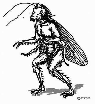 Cockroach Man by atati23