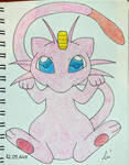 Mew-Meowth fusion by JakeShezz