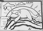 #inktober2018 - day 2 - Slowpoke by JakeShezz
