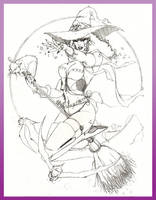 'Witchy Woman' by SURFACEART
